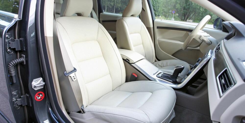 KOMFORT: Seter og sittestilling er en av de beste egenskapene til Volvo V70 og XC70