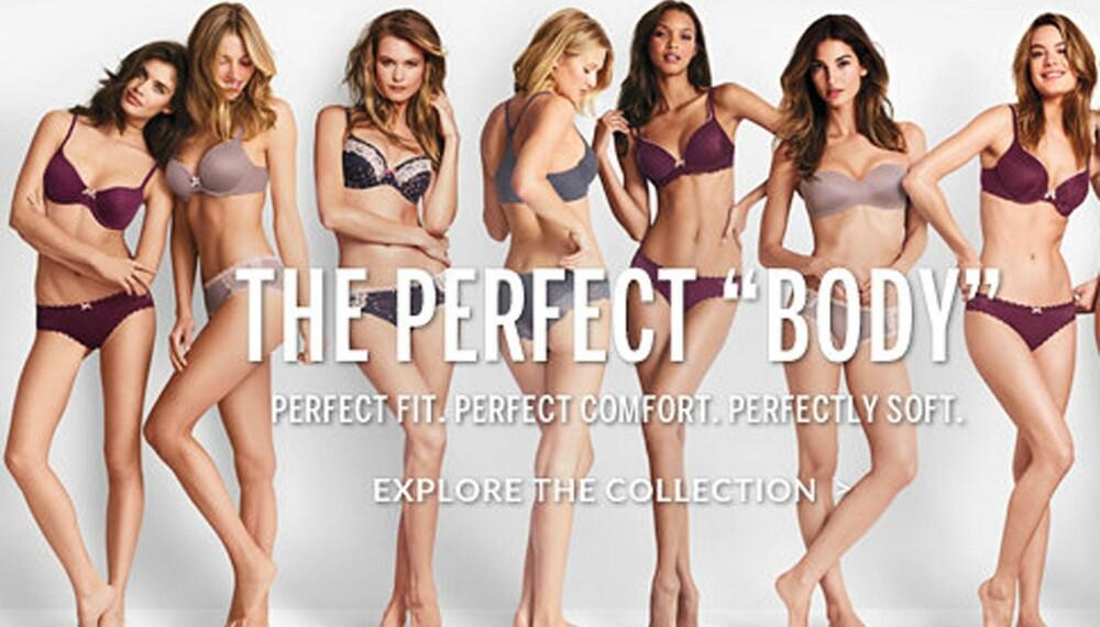 PERFEKT KROPP: Victoria's Secret har måttet tåle mye kritikk for sin siste kampanje. FOTO: Screenshot, Victoria's Secret