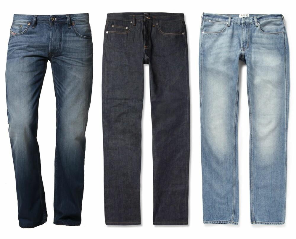 112d1f4b STRAIGHT FIT: Fra venstre: Larkee - Straight leg jeans - 0830Y fra Diesel,