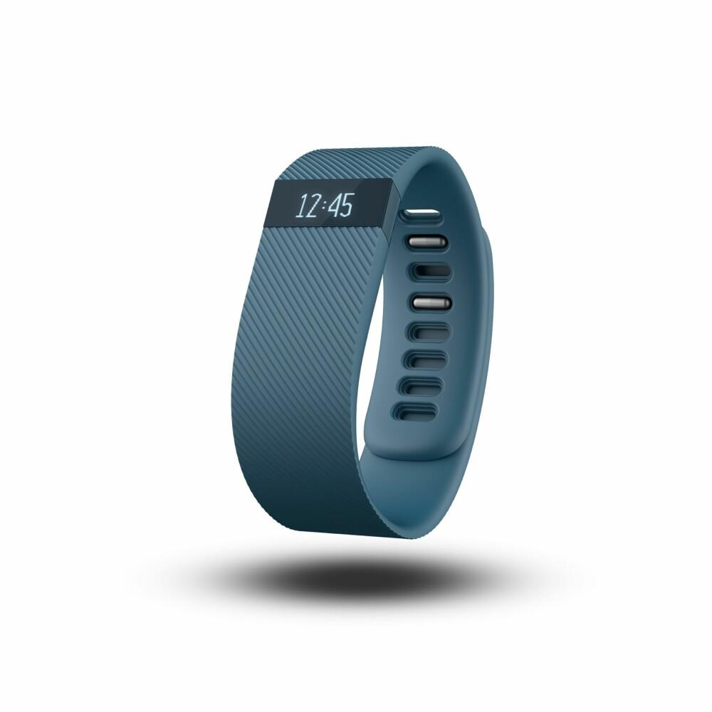KLOKKE: I tillegg til å vise aktivitetsdata, så fungerer Fitbit Charge også som en vanlig klokke.