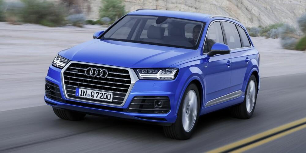 De første versjonene av Audi Q7 lanseres i Norge til våren. FOTO: Audi