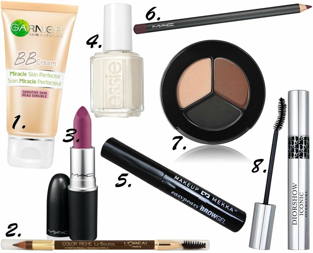 FAVORITTER PÅ BADEHYLLEN: Praktikant Anniken har mange favoritter i det rimeligere segmentet av skjønnhetsprodukter.