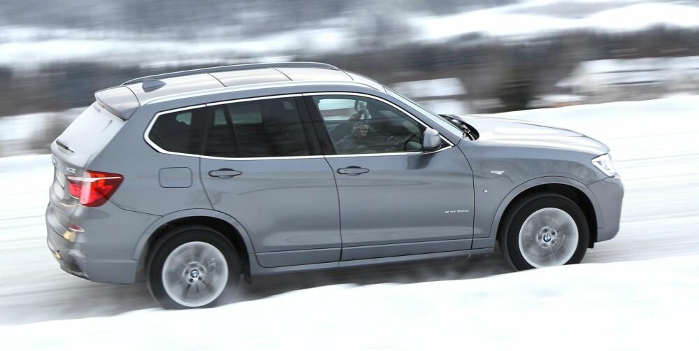 SPORTSLIG: BMW X3 er en sportslig SUV med kjøreegenskaper som minner om lavere personbiler.