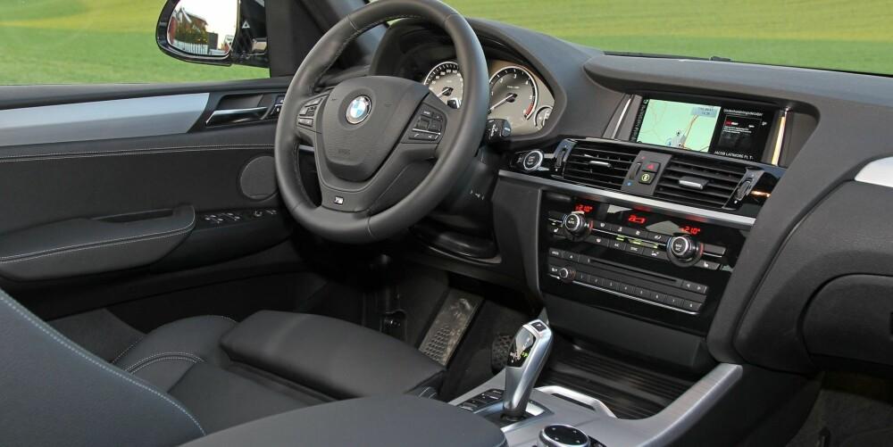 PYNT: Også innvendig pyntet BMW forsiktig opp under midtlivsoppgraderingen. Mer aktivt sikkerhetsutstyr er blitt tilgjengelig, bare du betaler.