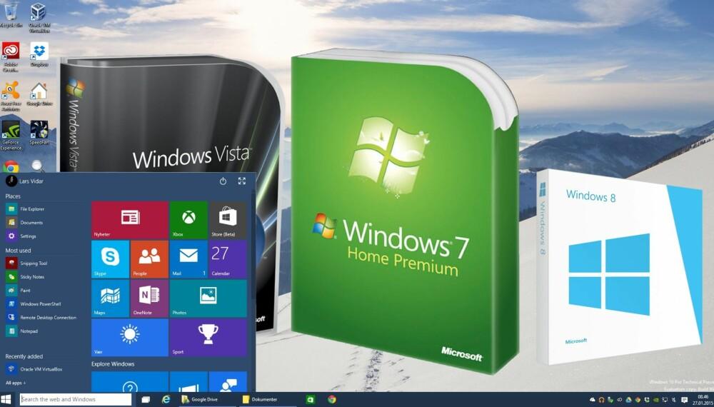 5fae9c38 DOWNLOAD: Visste du at alle Windows-versjonene, fra XP til Windows 10,