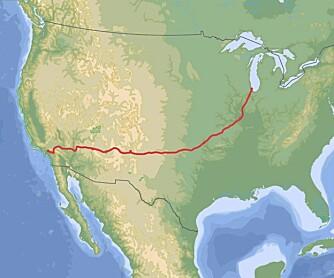 ROUTE 66: 400 mil fra Chicago til Loa Angeles, California.