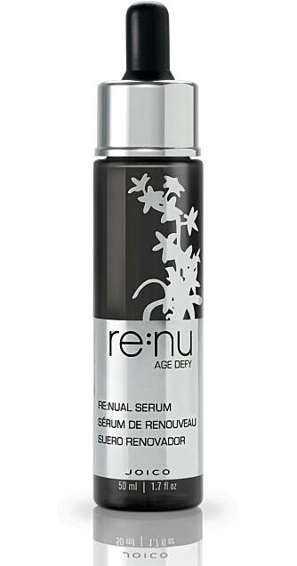 FLAGGSKIPET: Re:nu Age Defy Re:nual Serum er flaggskipet i serien. Den tilfører næring, øker hårets naturlige pigmentproduksjon og  styrker håret.