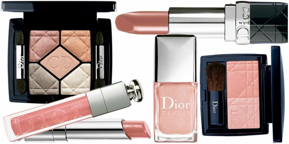 LYS: Dior går for lyse toner i kombinasjon med brunt og noen mørkere lepepstifter.