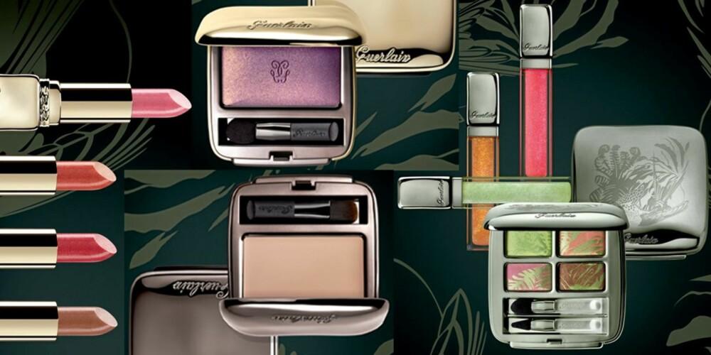 EKSOTISK: Guerlain går for eksotiske farger som lilla, oransje og grønt.