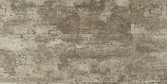 LAMINAT: Laminatgulvet Luna minner om stein og sement, ca. kr 230 pr. kvadratmeter, Tarkett.