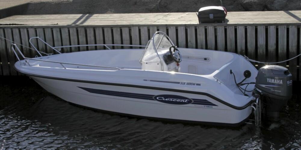 PRAKTISK: Båten er rommelig inni, samtidig er den robust og lett å vedlikeholde.