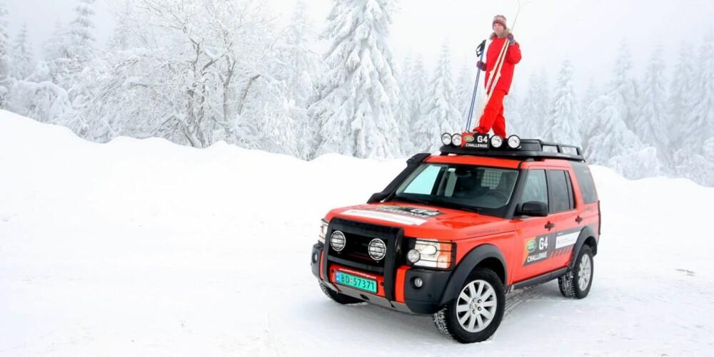 ROBUST: Det er ikke alle biler vi ville valgt å stå på taket av.