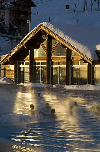 KALD LUFT, VARMT BAD: Alpe d'Huez, mer enn bare skikjøring.