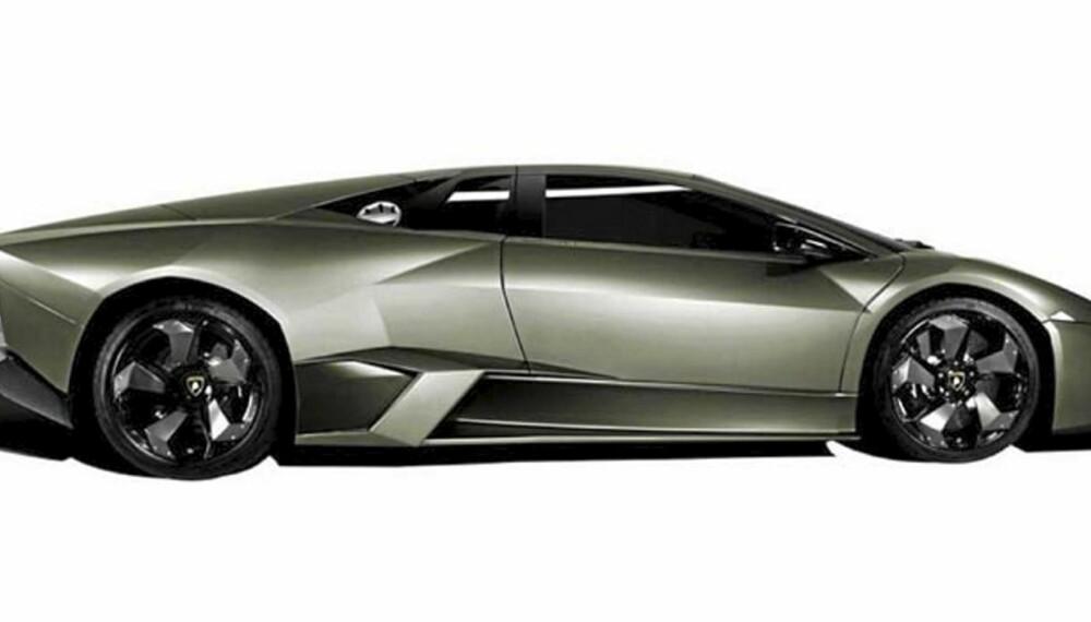 KAMPOKSEN: Lamborghini Reventón er noe av det villeste bilverden byr på. Og det dyreste.