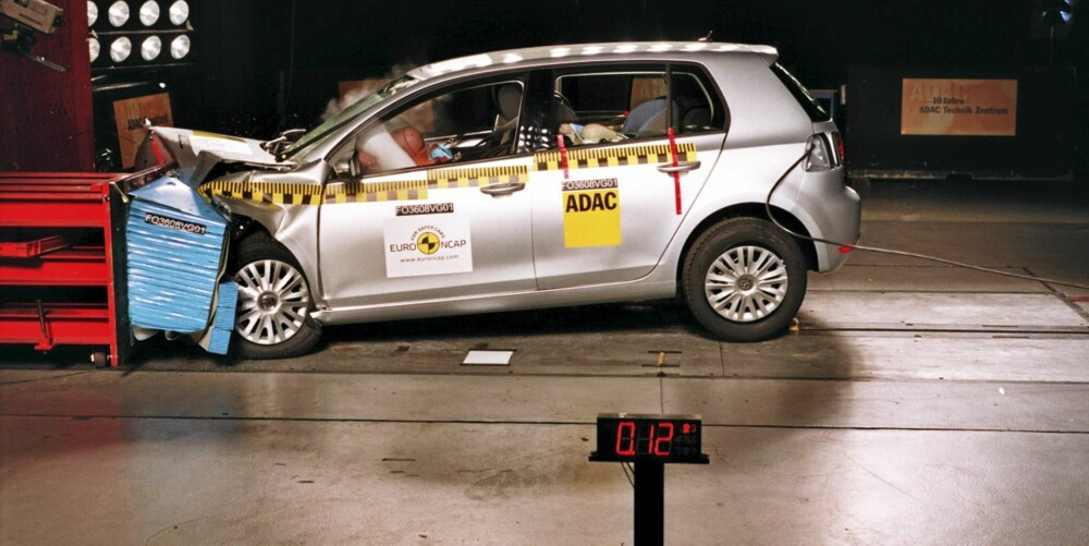 SIKKER BIL: I følge EuroNCAP-testen VW Golf den sikreste de har testet i 2009.