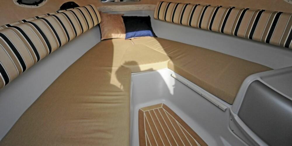 Det er fortsatt en fornuftig kabin og overnattingsmulighetene er gode.