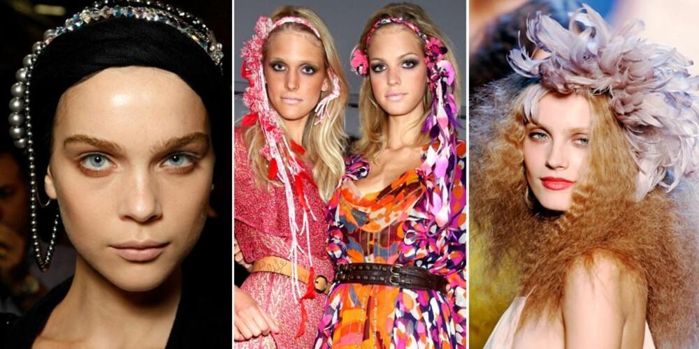 PYNT: Celine, Diane von Furstenberg og Sonia Rykiel går for pynt i håret denne sesongen.