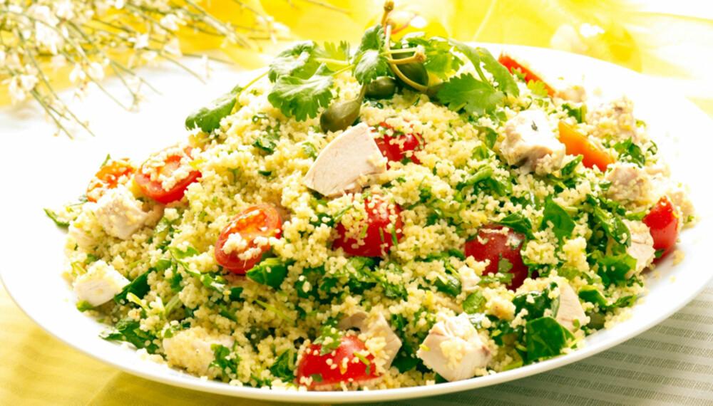 Rask mat: Få ingredienser kan måle seg med couscous.