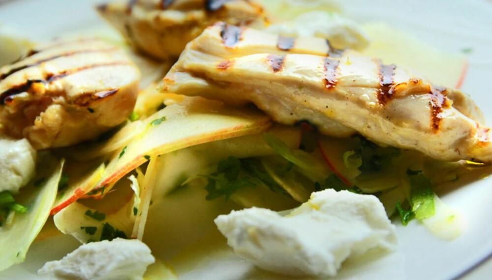 MIDDAGSTIPS: Middag på 20 minutter med kylling og chevre.