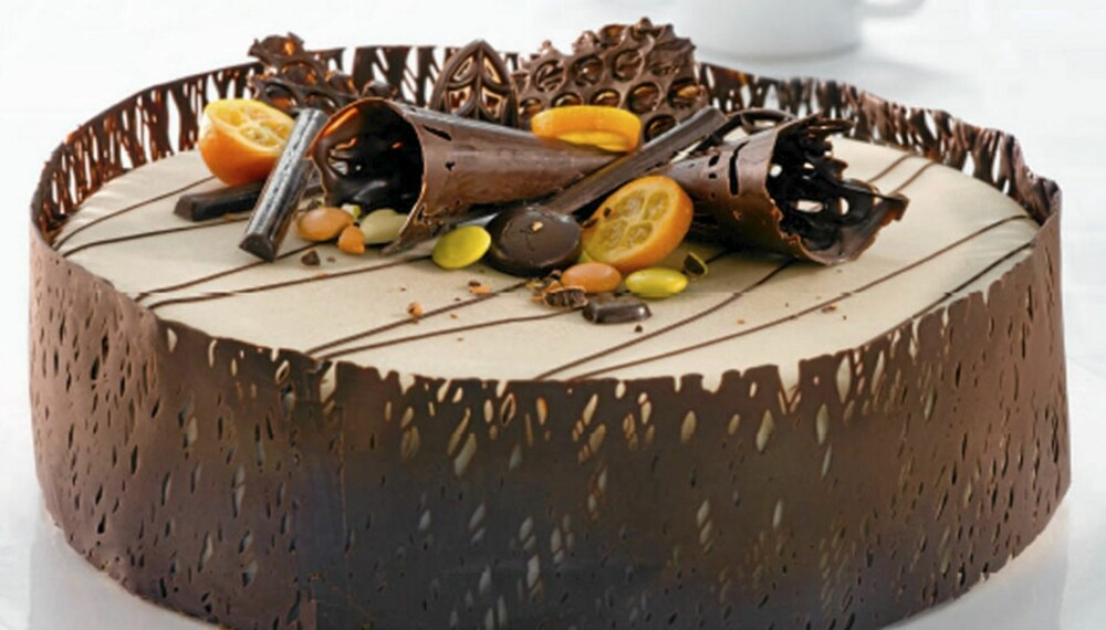 SJOKOLADEKAKE: Denne sjokoladekaken er vinneren av konkurransen.