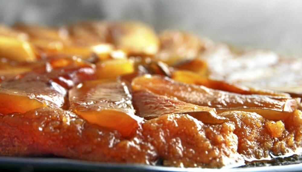 TARTE TATIN: En eplekake som lages oppned.
