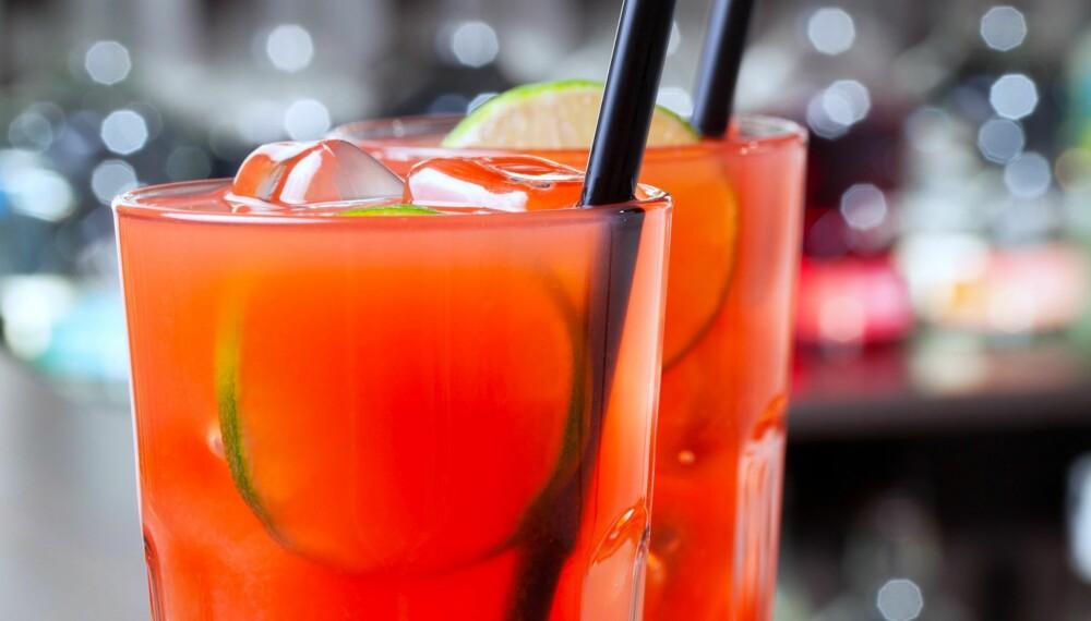 SEA BREEZE: Med vodka, cranberry juice og grapefruktjuice, lager du denne på fem minutter.