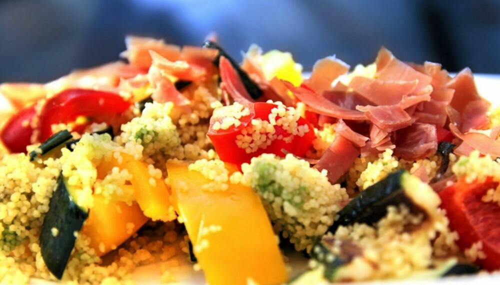 OPPSKRIFT PÅ COUSCOUS: Når couscous møter spekeskinke er det harmoni i blasfemien.