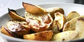 OVNSBAKTE POTETER: Det er moro å lage ovnsbakte poteter!
