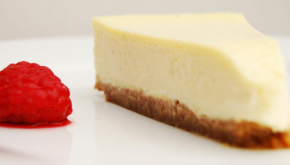 OSTEKAKE: Det er så lett å steke ostekaken perfekt.