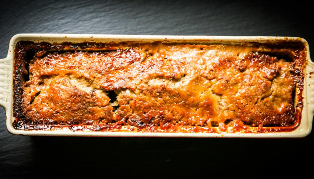 HJEMMELAGET KJØTTPUDDING: Det er ikke vrient å lage sin egen kjøttpudding. Og tror du det er godt med hjemmelaget...?