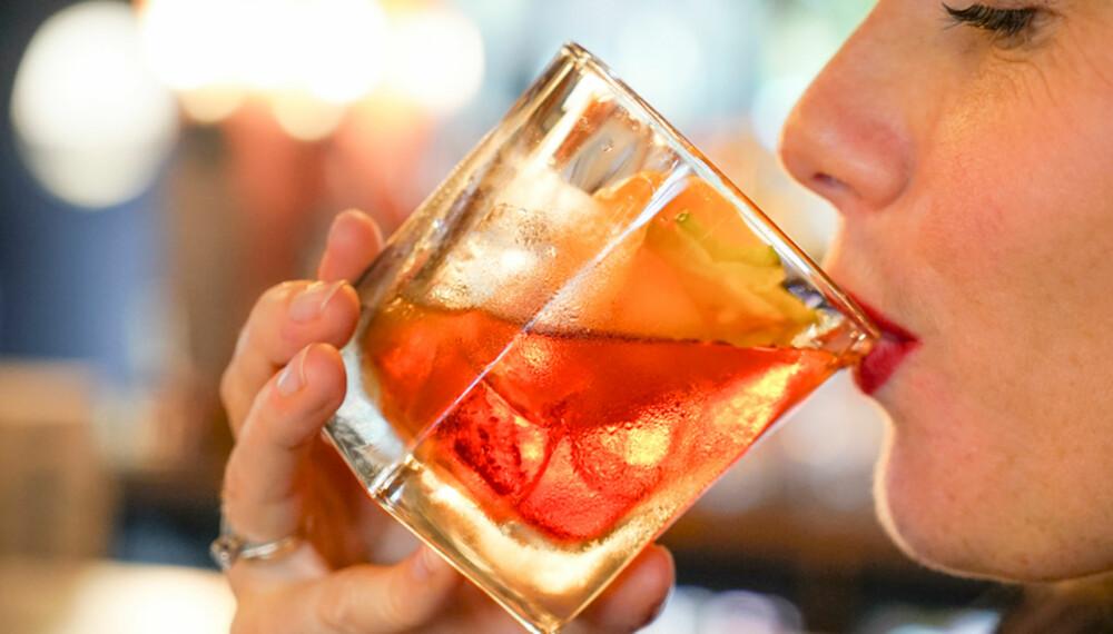 BOULEVARDIER: En nydelig drink som sier klart og tydelig fra at den er en drink.