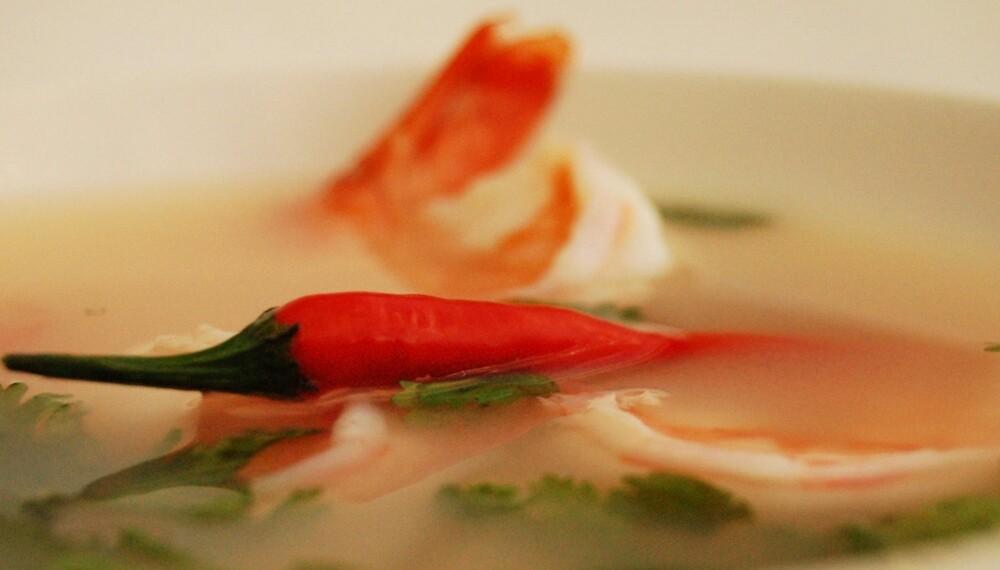 SPICY: Thaimat balanserer ofte surt, søtt, salt, bittert og spicy.