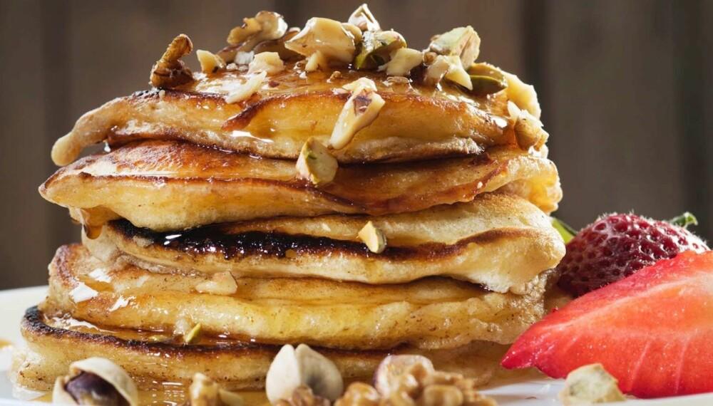 DEILIG: Amerikanske pannekaker er syndig godt til frokost.
