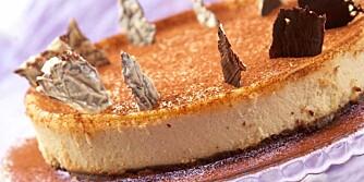 UKENS KAKE: Ostekake med kaffelikør.
