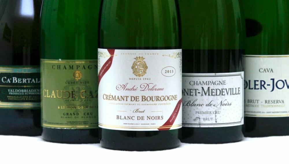 FOR ETHVERT BUDSJETT: Cava, prosecco, crémant og champagne.