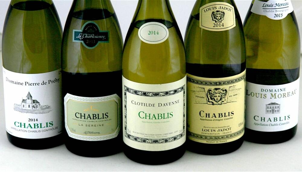 MINERALSKE: Det sjømineralske preget i chablis gjør at vinene går som hånd i hanske til fisk og skalldyr.