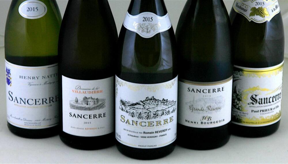 FRISKE: Sancerre er friske og fruktige hvitviner laget på druen sauvignon blanc.