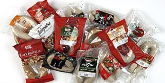 TEST: DinKost.no har vurdert næringsinnholdet i 15 forskjellige julepølser.