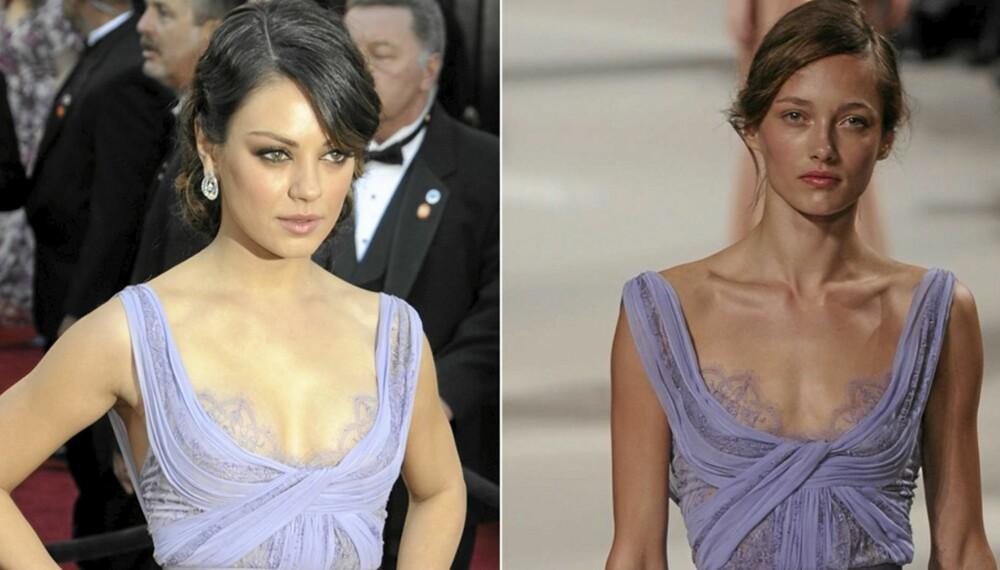 OSCAR-SPESIAL: Hvem kler kjolen best, kjendisen på Oscar-utdelingen eller modellen på catwalken?