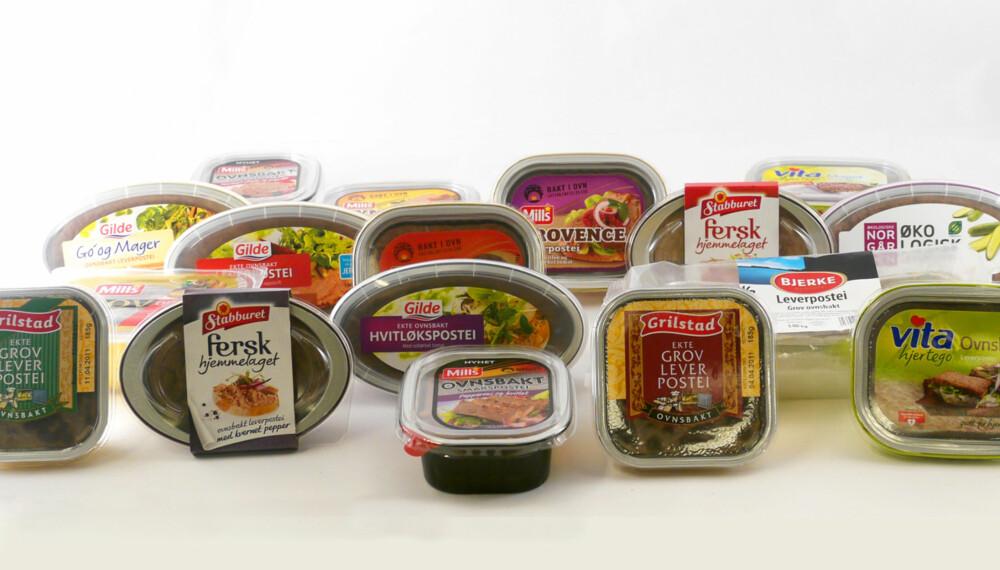 TESTET: Vårt panel har smakt og vurdert 29 typer leverpostei.