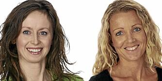 TESTERNE: Lise von Krogh (t.v.) og Cathrine Borchsenius.