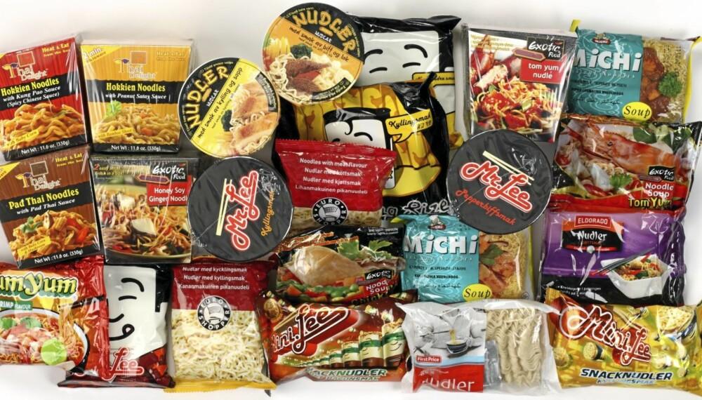 TEST: Ernæringsfysiolog Lise von Krogh har sjekket næringsinnholdet i 24 forskjellige porsjonsnudler på oppdrag for DinKost.no.