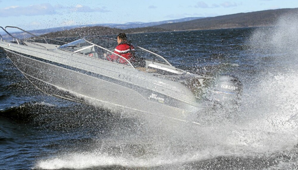 TØFFE: Aluminiumsbåter som Yamarin Cross 63 BR tåler røff bruk.