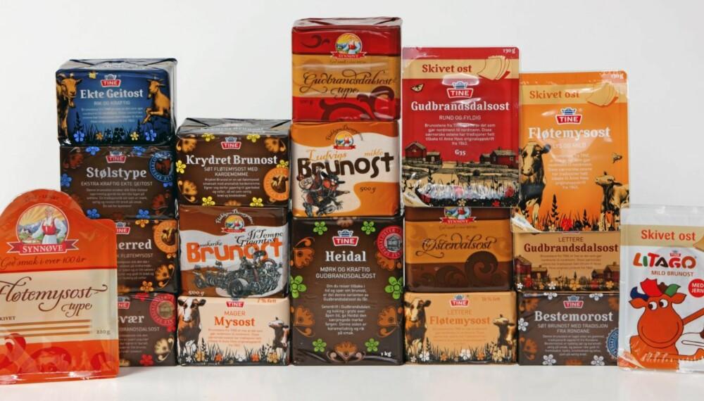 TEST: DinKost.no har sjekket næringsinnholdet i 18 typer brunost.