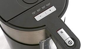 Temperaturvalg: Mange valg på kokeren fra Bosch og Siemens.