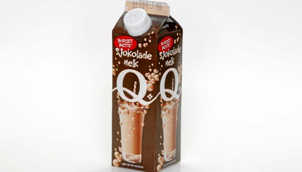 TERNINGKAST SEKS: Q Sjokolademelk er testvinneren blant sjokolademelk.