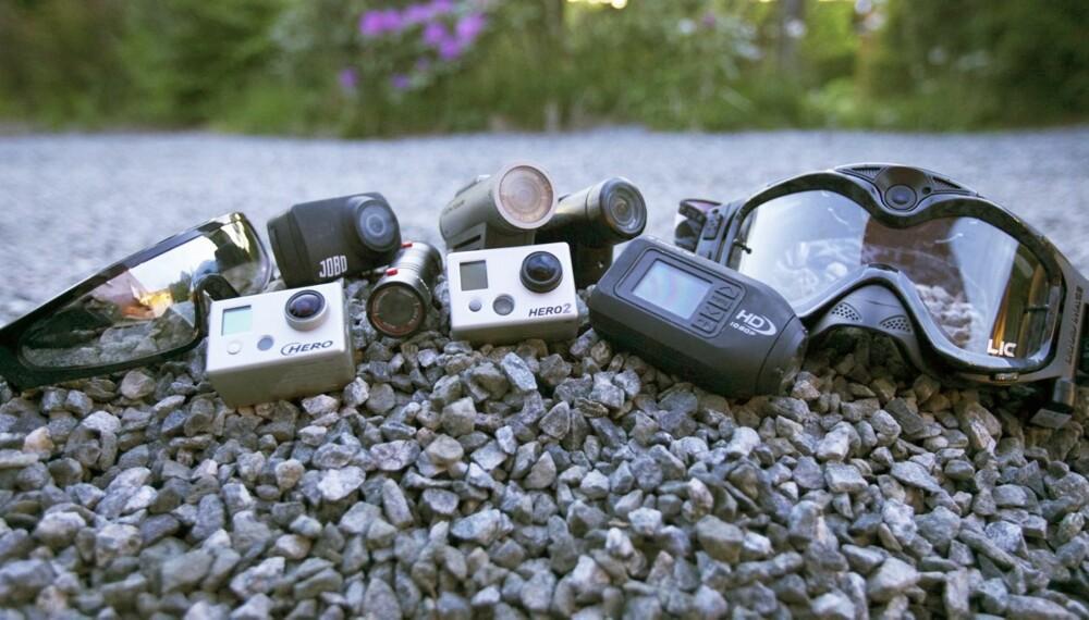 ACTION: Actionfylte bilder er populært på nettet og stadig flere utstyrer seg med denne typen kameraer.