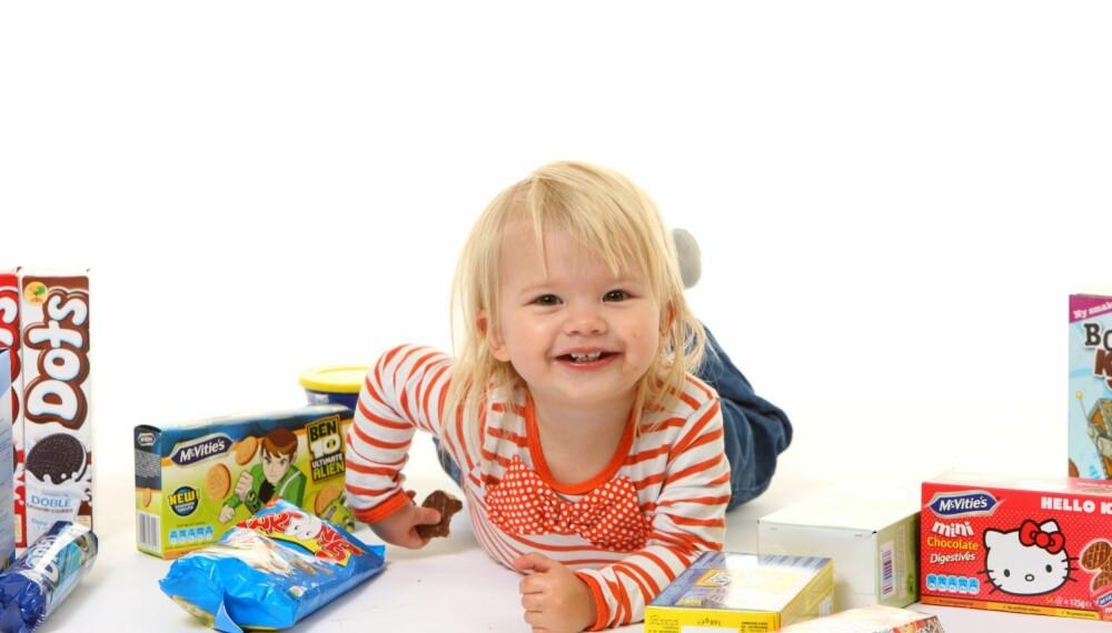 MMM KJEKS: Kjeks inneholder generelt sett mye sukker og fett og lite andre næringsstoffer som barn trenger. Men det er jo godt da...