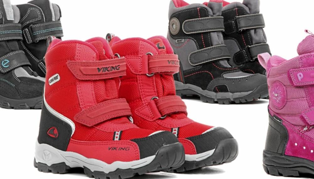 1401016a Halvparten av vinterstøvlene Foreldre&Barn har testet, vil ikke holde  barnas føtter tørre.