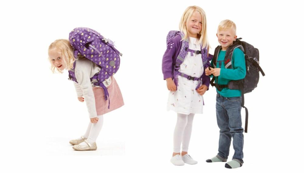 INDIVIDUELLE FORSKJELLER: En sekk som sitter perfekt på ett barn, sitter ikke nødvendigvis like godt på et annet.
